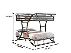 Are there heavy duty bunk beds for heavy people that can safely support high weight capacities? For a bunk bed to hold 300 pounds or even a 400 pound person, Iron Furniture, Steel Furniture, Home Decor Furniture, Home Furnishings, Bedroom Furniture, Furniture Design, Cheap Furniture, Bunk Bed With Desk, Full Bunk Beds
