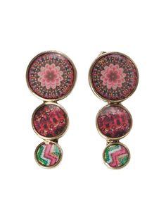 Desigual - Boucles d'oreilles pendantes - Métal - 61G55C37032U: Amazon.fr: Bijoux