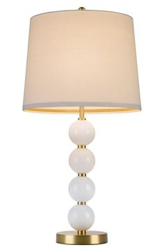 Free shipping and returns on cupcakes and cashmere Stacked Ball Table Lamp at Nordstrom.com. A lovely natural shade tops a playful, Art Deco-inspired table lamp with a slender goldtone pole accented with a stacked quartet of glossy white ball ornaments.