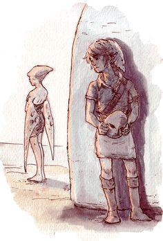 Lulu and Link from Zelda: Majora's Mask