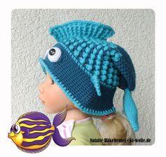 Fisch-Mütze häkeln << Kindermütze Fisch-Motiv