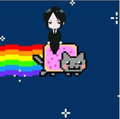 Sebastian Michaelis on Nyan Cat Black Butler Anime, Black Butler 3, Nyan Cat, Black Butler Kuroshitsuji, Anime Crossover, Awesome Anime, Anime Manga, Chibi, Otaku