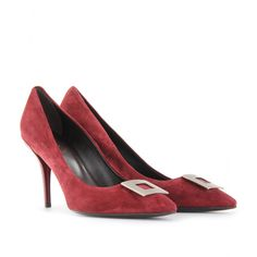 DECOLLETTE CUBISTE SUEDE PUMPS seen @ www.mytheresa.com