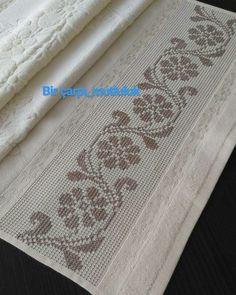 Alıntıdır Cross Stitch Charts, Cross Stitch Boarders, Cross Stitch Flowers, Cross Stitching, Cross Stitch Patterns, Hand Embroidery, Embroidery Patterns, Cross Stitch Embroidery, Crochet Patterns