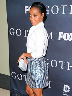Star Tracks: Wednesday, April 29, 2015 | HAUTE ON HER HEELS | Jada Pinkett Smith gets glittering at the Gotham finale screening event in Los Angeles on Tuesday.