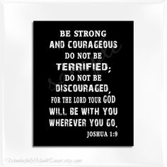 Joshua 19 Be Strong and Courageous image . by WonderfullyMadeDecor, $3.00