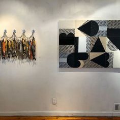 Two pieces from Go Fish. Left: Fish on Chain Right: Heave On view for the next month at Pii Gallery. Going Fishing, Old City, Printmaking, Screen Printing, Contemporary Art, Art Gallery, Fine Art, Sculpture, Chain