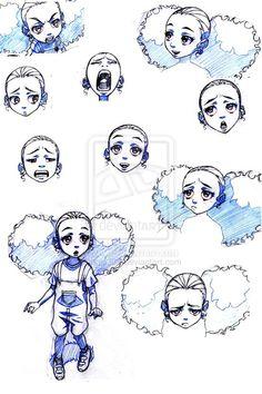 Image - Jazmine face expressions by Boondocks Characters, Boondocks Drawings, Boondocks Comic, Black Cartoon Characters, Cartoon Faces, Girl Face Drawing, Drawing Hair, Gesture Drawing, Drawing Drawing
