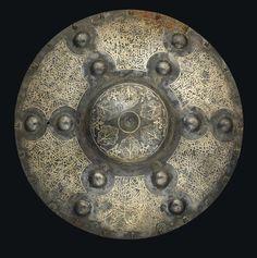 A Silver Damascened Shield Ottoman Turkey, 16th Century