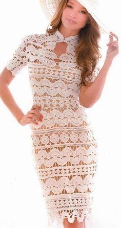 vestidos a crochet Gilet Crochet, Crochet Lace, Crochet Style, Crochet Tops, Thread Crochet, Crochet Skirts, Crochet Clothes, Lace Summer Dresses, Short Dresses