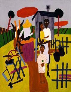 Farm Family  by William H. Johnson