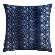 Discover the Matthew Williamson Mustique Cushion - Persian Blue at Amara Blue Throw Pillows, Scatter Cushions, Toss Pillows, Accent Pillows, Persian Blue, Blue Home Decor, Luxury Sofa, Matthew Williamson, Designer Pillow