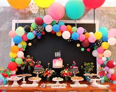 How to make a balloon arch (video!) & reader photos How to make a balloon arch (video!) & reader photos - The House That Lars Built Diy Garland, Balloon Garland, Balloon Decorations, Rainbow Balloon Arch, Balloon Party, Balloon Arch Diy, Ballon Arch, Cheap Party Decorations, Balloon Backdrop