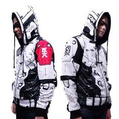 Mode Cyberpunk, Cyberpunk Clothes, Cyberpunk Fashion, Hip Hop Fashion, Mens Fashion, Fashion Outfits, Street Goth, Future Clothes, Cool Jackets