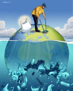 Daniel Garcia Creates Thought-Provoking Illustrations That Show What's Wrong With Our Society The Effective Pictures We Offer You About Satire greek A quality picture can tell you many things. Art Environnemental, Satirical Illustrations, Plakat Design, Save Our Oceans, Water Pollution, Environmental Art, Save The Planet, Surreal Art, Mother Earth