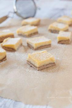nut-free Paleo Lemon Bars by Against All Grain