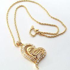 Collana Ciondolo Cuore Oro Zirconi Donna , Collier pendentif cœur en or Zircon