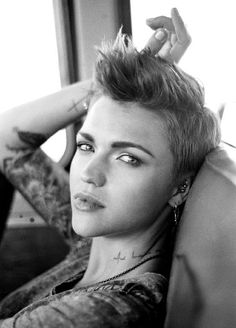 Short Blonde Hair. Ruby Rose