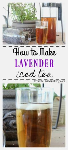 This lavender iced tea is a refreshing summer iced tea made from dried lavender. One of my favorite lavender drinks! #creativehomemaking #icedtea #lavender