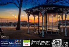 Sunrise at the Bus Terminus, St Peter Port. Looks as though it's going to be a nice day! #LoveGuernsey   http://chrisgeorgephotography.dphoto.com/#/album/cbc2cr/photo/21744510  Picture Ref: 24_02_14 — at St. Peter Port, Guernsey.