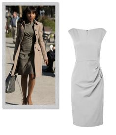 Much like women everywhere, Olivia Pope's day-to-day requires a lot of running around. However, a polished head-to-toe look is practically a job requirement. The classic shift dress is a perfect jumping off point thanks to its sophisticated and no-fuss silhouette. Invest in a clean-cut style in a neutral or color-blocked hues. L.K. Bennett Tancy Fitted Dress, $395; uslkbennett.com.