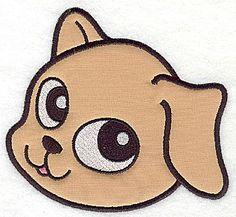 Devoted happy dog C applique| Applique  Machine Embroidery Design or Pattern