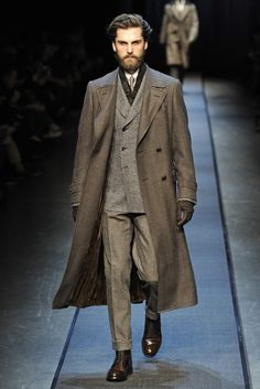 Canali Men's RTW Fall 2013 - Awesome Tweed 3 Piece, and Herringbone overcoat