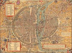 Vintage map of Paris Historic 1575 PLAN DE PARIS France restoration style Map six sizes up to x Fine art Print Home Decor by VintageImageryX Paris Map, Paris City, Paris France, France Map, Vintage Maps, Antique Maps, Time Out, Plan Paris, Art Carte