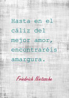 Frase de Friedrich Nietzsche sobre el amor