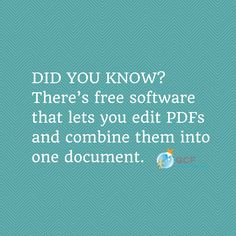 Need to edit a #PDF file or combine multiple PDFs into one document? Learn more about some of the best free PDF editing tools with this blog post from GCFLearnFree.org.