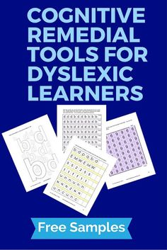 Finding cognitive remedial tools for dyslexic learners can be challenging. What's more, many of the tools out there are boring. Here is a sampling of some game-like activities that will develop the c Dyslexia Activities, Dyslexia Strategies, Dyslexia Teaching, Free Activities, Teaching Activities, Teaching Tips, Types Of Dyslexia, Teaching Strategies, Therapy Activities