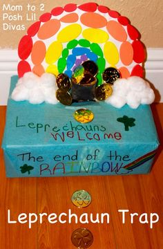 Mom to 2 Posh Lil Divas: Making & Setting A Leprechaun Trap for St. Patrick's Day