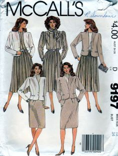 pockets and full-length sleeves. Pull-over blouse has buttoned back ...