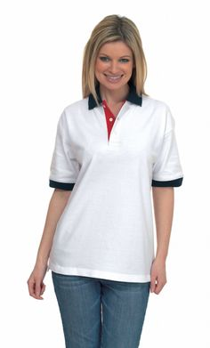 UC107 Uneek Contrast Polo Shirt £6.18 Lovely contrast polo shirt by Uneek. Made from 100% rung spun combed cotton, and featuring contrast collars and cuffs to give a different look. 3 Self coloured button placket and knitted collar and cuffs.