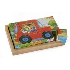 "Cube Puzzle ""Animal Fun"":  Price: £13.85 - In Stock -  Discover the world of dolphins, mice and other animals. Fun is guaranteed. Cube puzzle with 15 cubes in a wooden box.  recommended minimum age 3+ Dimensions Box: approx. 19,5 x 12,5 x 4 cm / cube: approx. 3,5 x 3,5 x 3,5 cm"