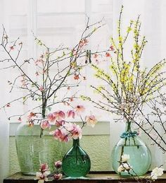Spring decoration with branches