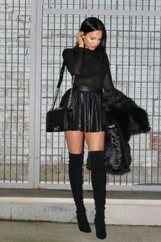 All black style outfit 2015