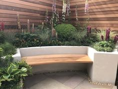 Rendered raised bed with builtin seat Designer Jo McCreadie Image Lorraine Young Verve Garden Design Modern Garden Design, Patio Design, Garden Ideas For Small Spaces, Garden Ideas Diy, Garden Design Ideas, Small Garden Inspiration, Modern Design, Back Garden Design, Herb Garden Design