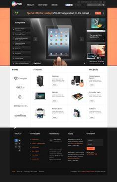 Orange - eCommerce Multipurpose PSD Template by Nicola Mihaita, via Behance