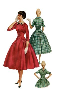 1950s Vintage Simplicity 1305 Fitted by DesignRewindFashions, $18.00