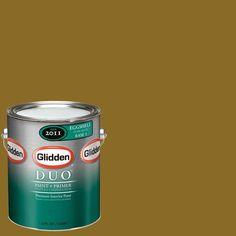 Glidden Team Colors 1-gal. #nfl-051B NFL Jacksonville Jaguars Gold Eggshell Interior Paint and Primer