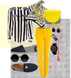"""Love those stripes"" by sheryl-slack-bessinger on Polyvore"