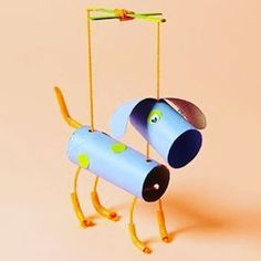 Turn tissue rolls into marionettes #DIY #kids #recycle #marionette #dogs #animals via http://pin.it/yq1ze8I