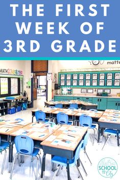 day-by-day plans, resources, and activities for the first week of third grade