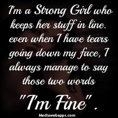 I'm a strong girl