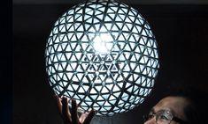 Edward Chew Creates Stunning Geometric Lamps From Recycled Tetra Paks
