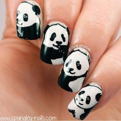 PRESS SAMPLE I am a total lover of Nail Wraps. Scratch Nail Wraps, in my opin. Panda Bear Nails, Panda Nail Art, Nail Art For Kids, Easy Nail Art, Fabulous Nails, Gorgeous Nails, Unicorn Nail Art, Uk Nails, Nail Art Blog