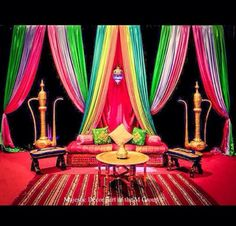 Colorful mehndi stage
