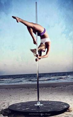 Pole Dancing - pole dance on the beach