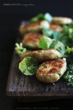 Quinoa And Pea Spice Croquettes | Cook Republic